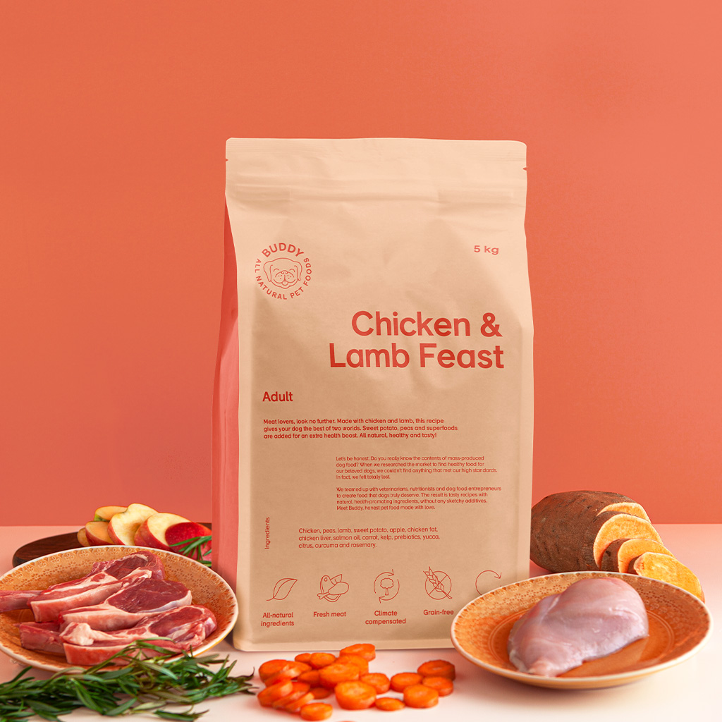 buddy pet foods_nyttig hundmat med kyckling och lamm
