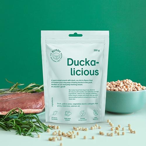 buddy pet foods_ nyttig hundgodis med anka